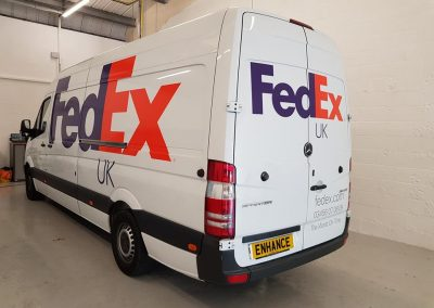 FEDEX UK Deliveries and Distribution vehicle Livery Enhance NE Ltd Newcastle