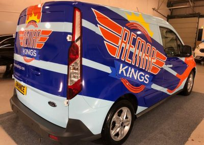 Remap Kings Newcastle Van Graphics Partial vehicle van Wrap Wrapping Enhance NE
