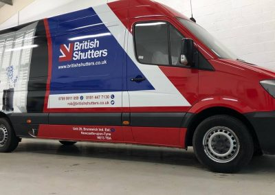 Wrapping British Shutters Digitally Printed Vehicle Wrapping Wrap Design produce install