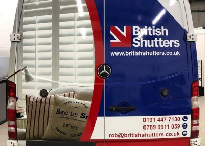 Branding British Shutters Digitally Printed Vehicle Wrapping Wrap Design produce install