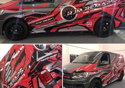 RJM Remaps The Tuning Expert Full Vehicle Wrap digital printing vehicle styling